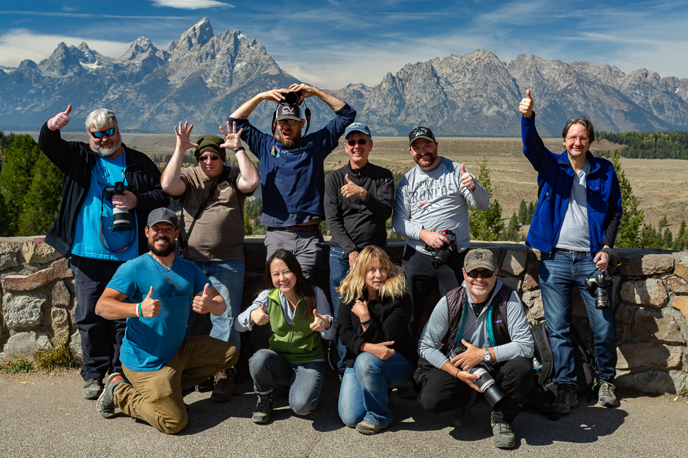 Grand Teton Photography Workshop Students