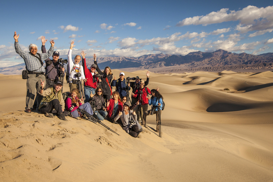 Death Valley Winter Photography Workshop Students with Aperture Academy