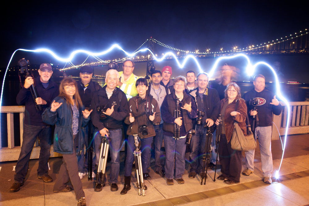 Night Photography Workshop Students with Aperture Academy